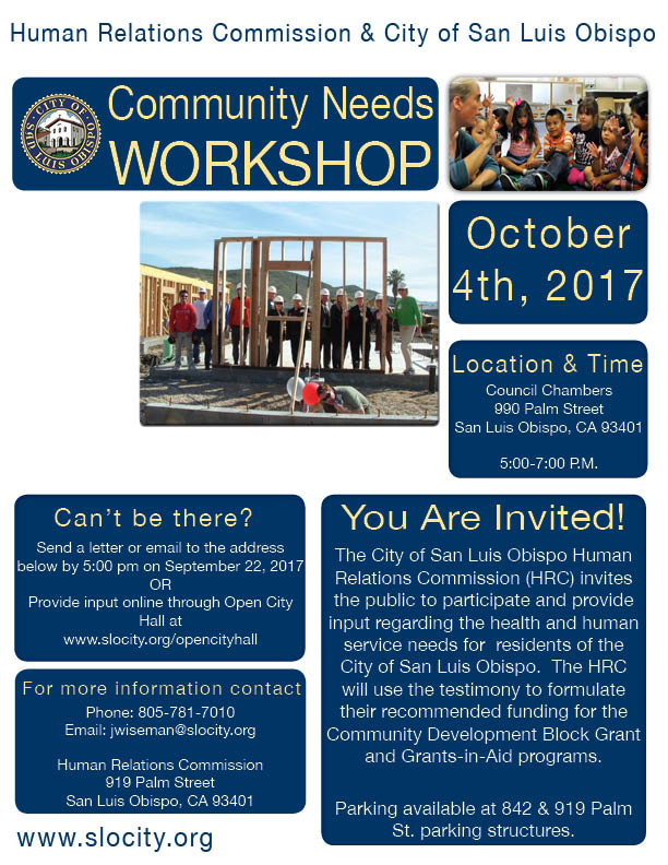 Community Needs Workshop 2017 Flyer