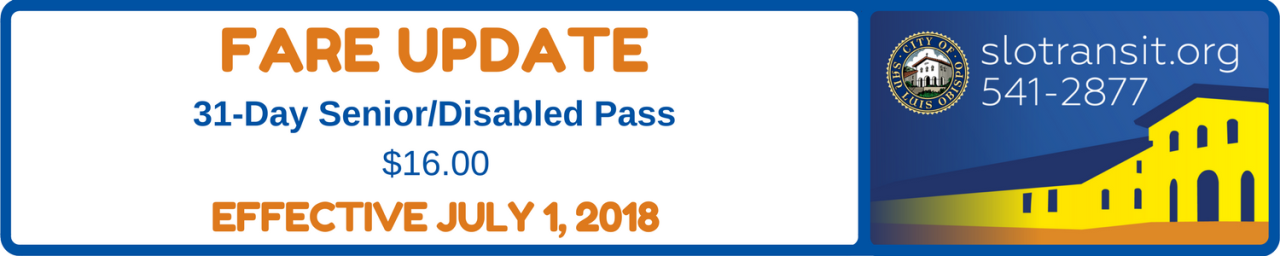 Fare Update - July 1