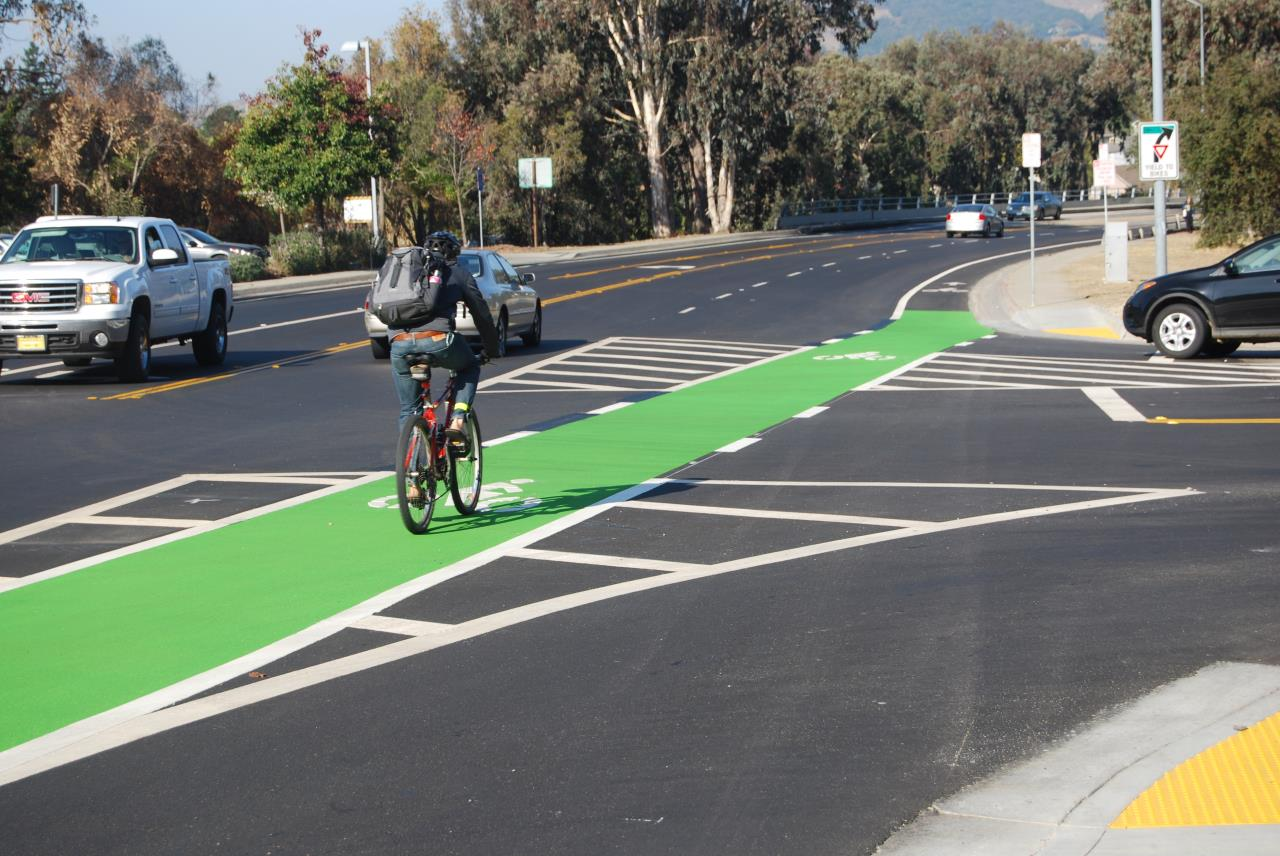 Highway 101 Green Bike Lane