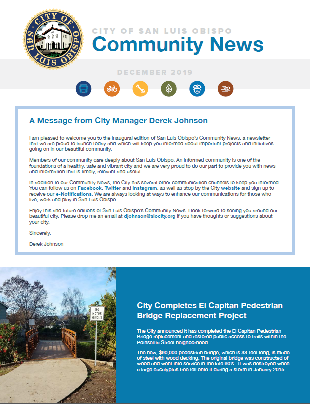 Photo of December 2019 Community News Monthly Newsletter