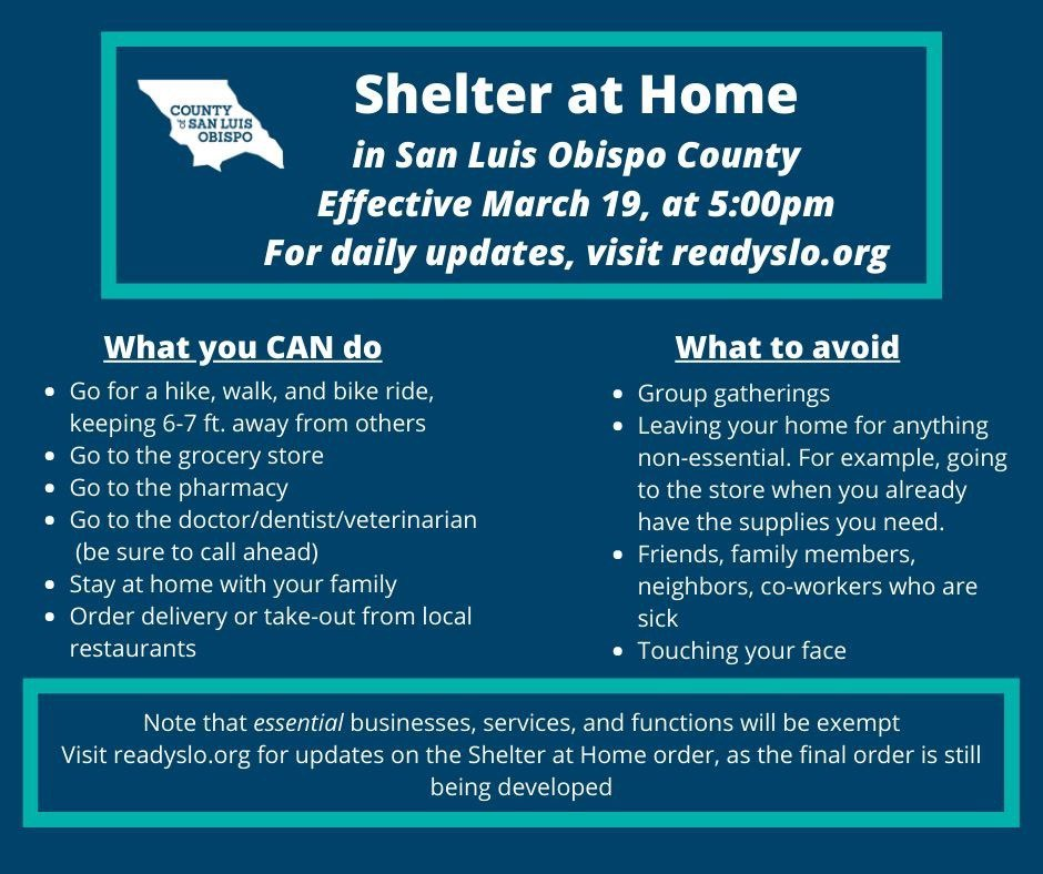 st of Essential Services for Shelter at Home