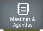meetings and agendas button