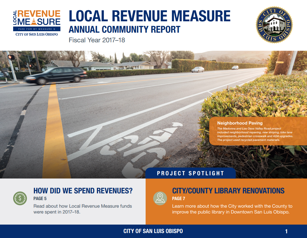 2017-18 Local Revenue Measure Annual Report