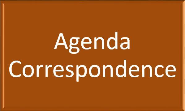 AgendaCorrespondence