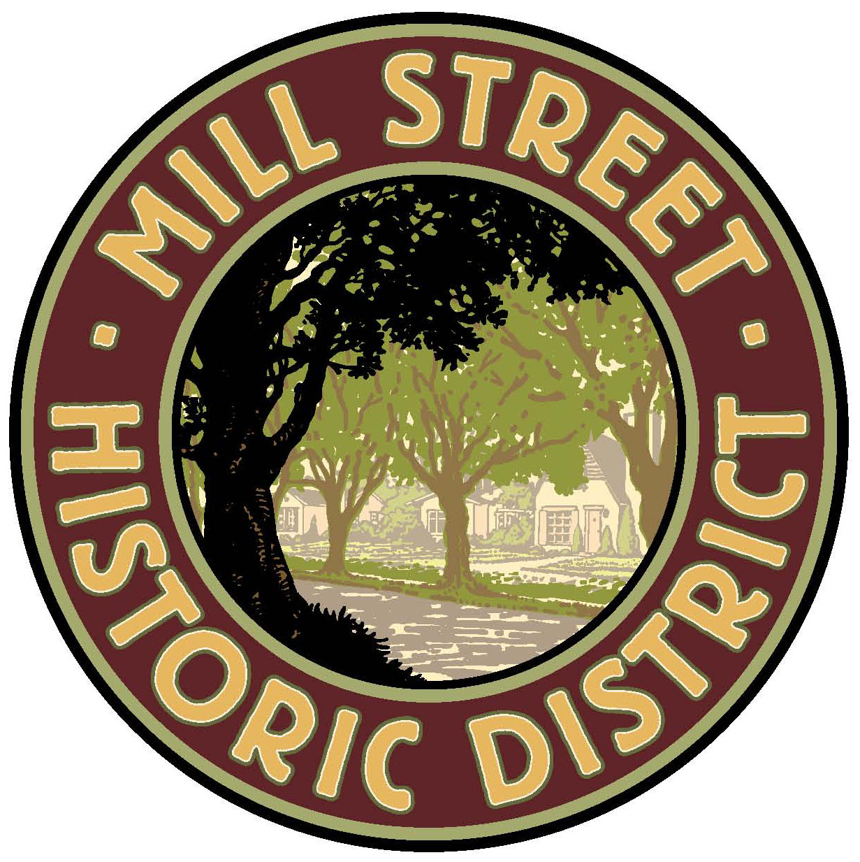 Mill Street District sign
